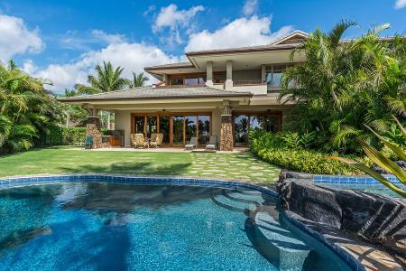 Kauna'oa 8A in intimate gated community with pool, access to golf & beach - Image 1 - Mauna Lani - rentals