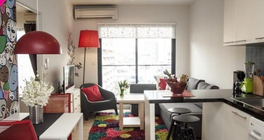 Living room  - Modern one bedroom apartment, in center of Bangkok - Bangkok - rentals