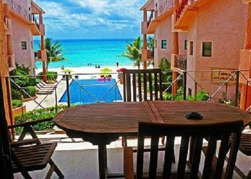 View from terrace - G-2 OCEAN FRONT CONDO - 2 Bdr Unit  Best Location - Playa del Carmen - rentals