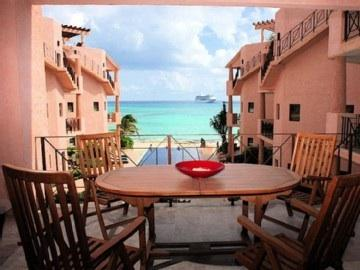 Imagine having breakfast, lunch or al fresco dinner at our cover terrace with awesome view of Caribbean ocean - G-2 OCEAN FRONT CONDO - 2 Bdr Unit  Best Location - Playa del Carmen - rentals