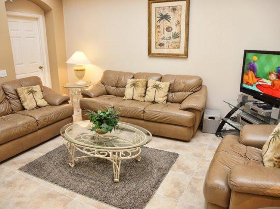 Living Area - WP5P8200FPW Luxury Vacation in Orlando Disney World - Kissimmee - rentals