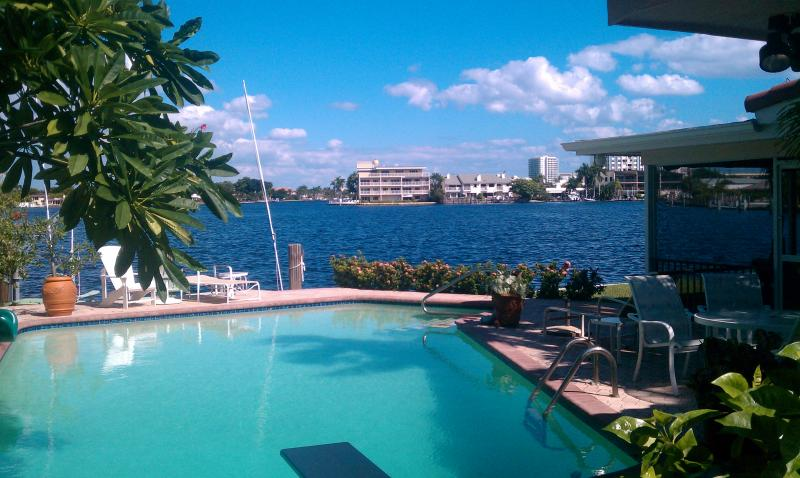 View of the Intracoastal from the pool - Intracoastal Waterfront Home in Lauderdale by the Sea Florida - Lauderdale by the Sea - rentals