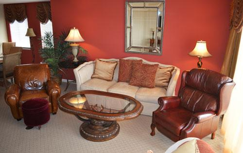 Living room with balcony access and plush seating - Gorgeous 3BR Yacht Club w/ Wifi/huge pool! 1-1001 - North Myrtle Beach - rentals