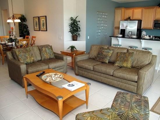 Living Room - WH4P2568AB Family Vacation Haven in a Kissimmee Resort Community - Kissimmee - rentals