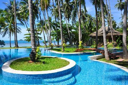 Idyllic Villa Kalyana offers beachside pool, snorkeling and onsite Thai chef - Image 1 - Koh Samui - rentals