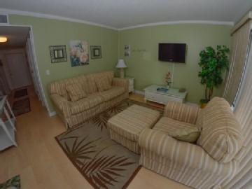 Plenty of seating in living room - 2BR W/ POOLS/LAZY RIVER/MORE @ MB RESORT A - 510 - Myrtle Beach - rentals