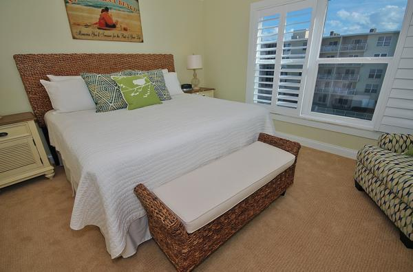 Pretty Master Bedroom - SCG II 409-Renovated and Ready for Beach Adventure - New Smyrna Beach - rentals