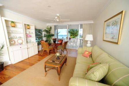 Unit 15 Living Room - Fabulous Condo with View - #15 Harbour Heights 7MB - Seven Mile Beach - rentals