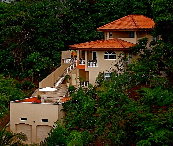 exterior picture of the villa - Villa Del Cielo--your vacation in sunny,lovely Playa Hermosa, Costa Rica!! - Playa Hermosa - rentals