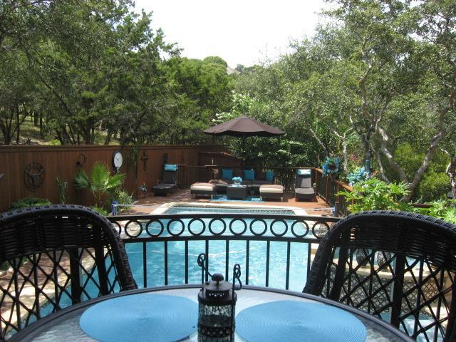 Back Patio off of the Great Room - Relaxing and Peaceful Oasis in North Central Austin! - Austin - rentals