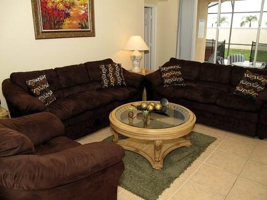 Living Room - WP4P8190FPW Nicely Equipped Villa in Kissimmee with Portable Jacuzzi - Kissimmee - rentals