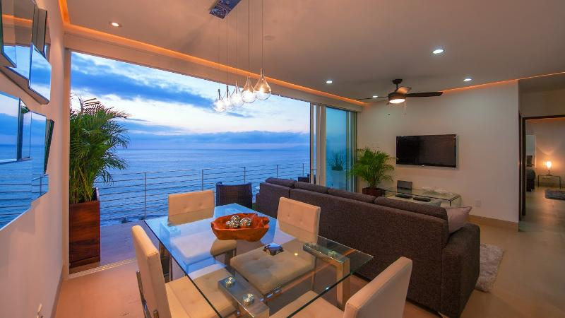 Views from every angle! Photo taken just after sunset!  - NEW| 353 AMAPAS| OCEAN VIEWS |OLDTOWN| PETS OK | - Puerto Vallarta - rentals