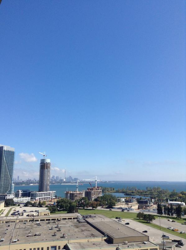 View from south facing balcony, looking east to downtown. - 2 Bed, 2 Bath, Brand New Bright and Spacious - Toronto - rentals