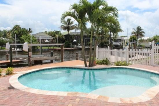 Brand New Pool overlooking the Canal - The Harborside at Palermo with sweeping water views and luxury living on 2 levels -  Harborside at Palermo - Fort Myers Beach - rentals
