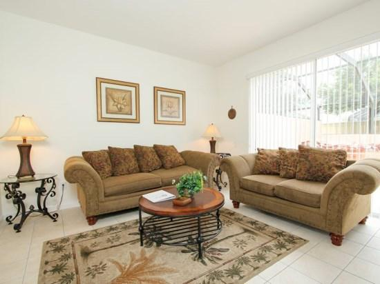 Living Area - WP3T2405SPD Furnished and Comfy Town Home in a Gated Kissimmee Resort - Four Corners - rentals