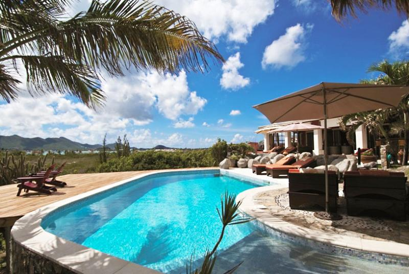 St. Martin Villa 156 A Superb Waterfront Three Bedroom Villa Located On The Cliffside In Terres Basses With Spectacular Views Of The Ocean. - Image 1 - Terres Basses - rentals