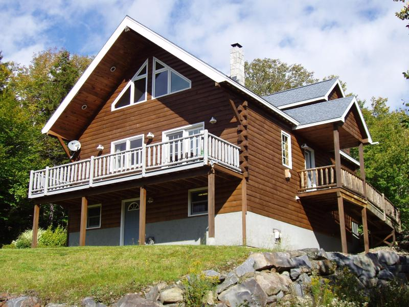 Recently Stained, Labor of Love - Log Home Rental, Rangeley Maine - Rangeley - rentals