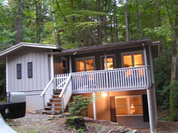 Belle Cottage at Night - Belle Cottage Heart Of The Mountains - Maggie Valley - rentals