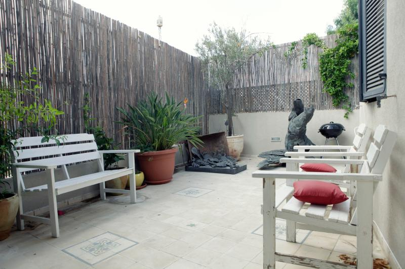Outdoor Terrace - 3 Storey Neve Tzedek Condo - 4 Bedroom Apartment - Tel Aviv - rentals