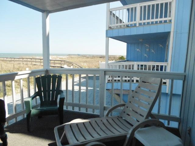 View to south from deck - Winds I 1B 118510 - Carolina Beach - rentals