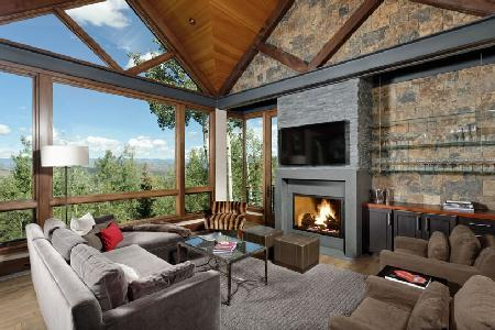 Forest Lane Contemporary Villa, ski in/out, fantastic views and covered terrace - Image 1 - Snowmass - rentals