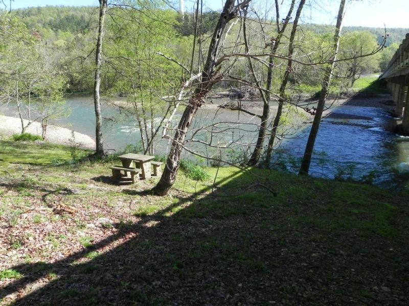 Fiew from the River Cabin Deck - River Cabin (F)  on the Caddo River - Caddo Gap - rentals