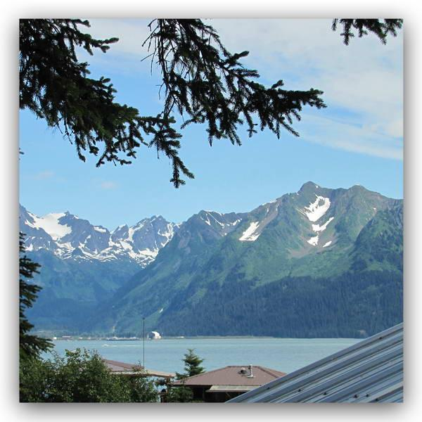 The view from the Heron View room in the Heron Roost building - Angels Rest Waterview Heron View Room Seward AK - Seward - rentals