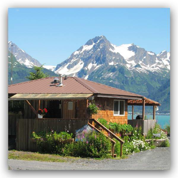 The Wing Cabin from Beach Drive 13730 Beach Drive Lowell Point Seward Alaska - Angels Rest Waterfront Wing Cabin Seward Alaska - Seward - rentals
