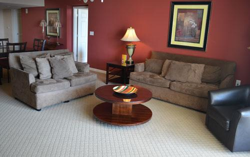 Living room with plush seating - Perfect for large groups, 4BR Yacht Club 1-504 - North Myrtle Beach - rentals