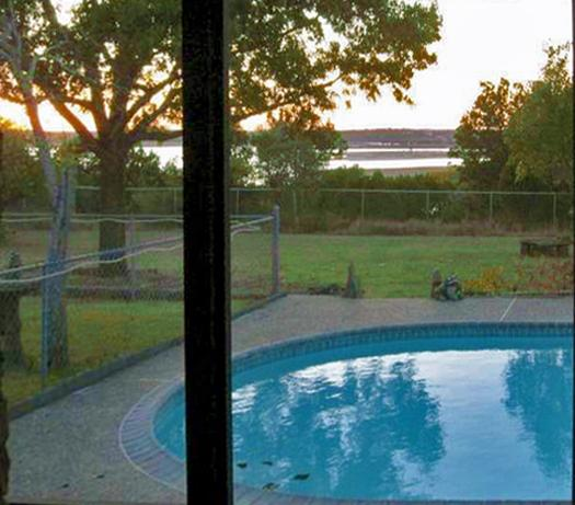 View of Lake and Pool from House - Close to Beach Access, Boat Ramp, Lake Views, Private Pool, Hot Tub, Pool Table - Canyon Lake - rentals