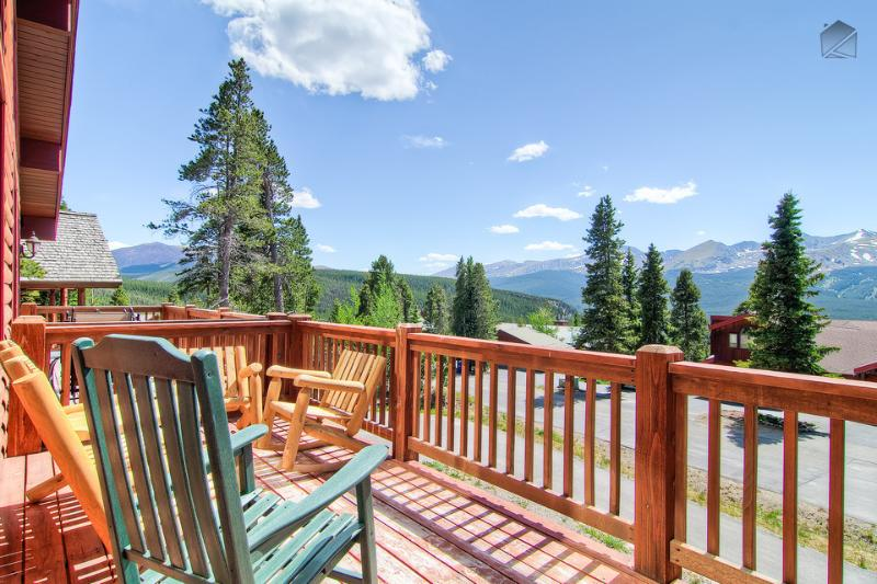 Plot your adventure on the ski mountain while enjoying your morning coffee on the front balcony. - Luxury mountain home with hot tub, heated deck, and gorgeous mountain views - Firelight Luxury - Breckenridge - rentals