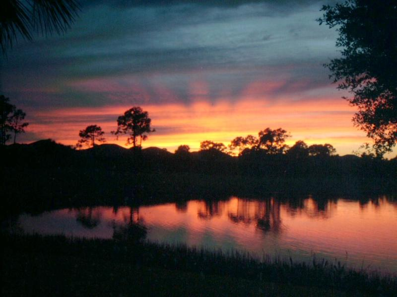 sunset from lanai - Best view in Pelican Sound - Estero - rentals