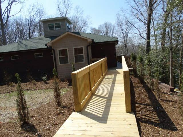 Handicapped ramp is the home's main entrance - Lake Home Surrounded by 2000 acre State Park - Lake Norman - rentals