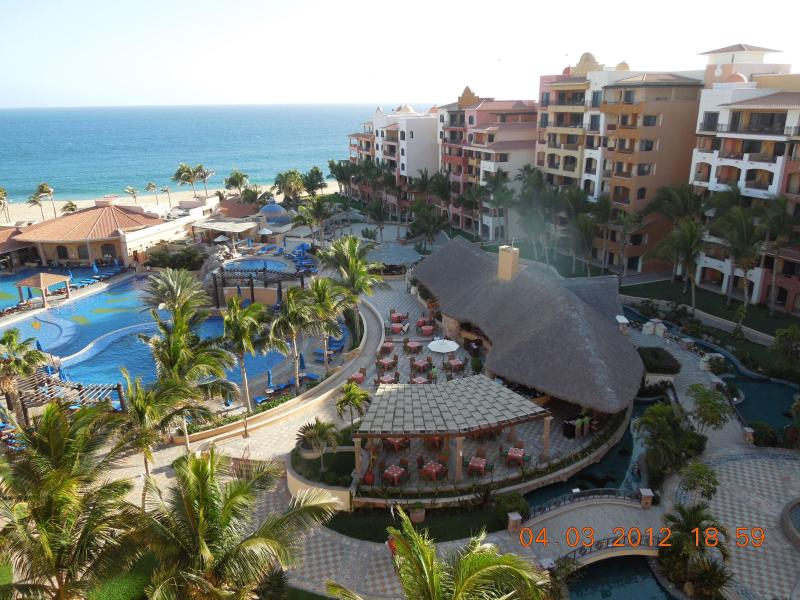 View from Balcony to pool and Pacific Ocean - Cabo San Lucas Finest, Playa Grande Resort, Walk to Marina, Clubs, Shopping - Cabo San Lucas - rentals