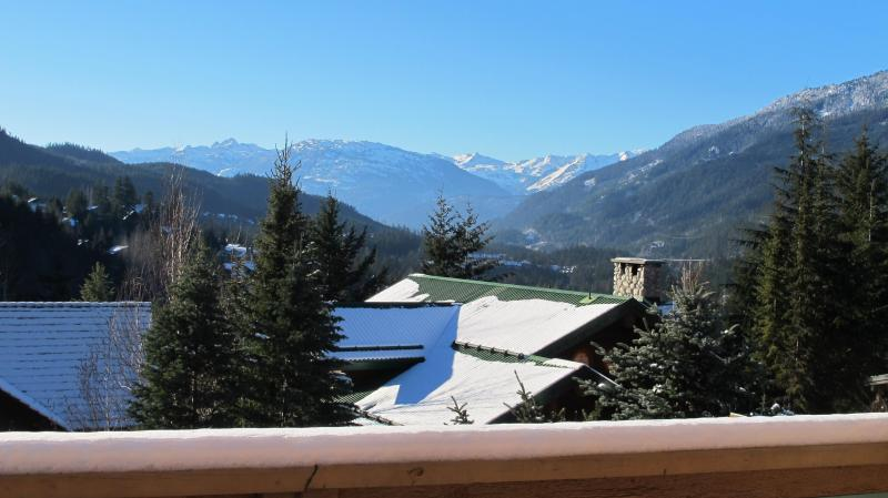 View from the main floor deck - 5 BR Ski In Ski Out with Amazing Views - Whistler - rentals