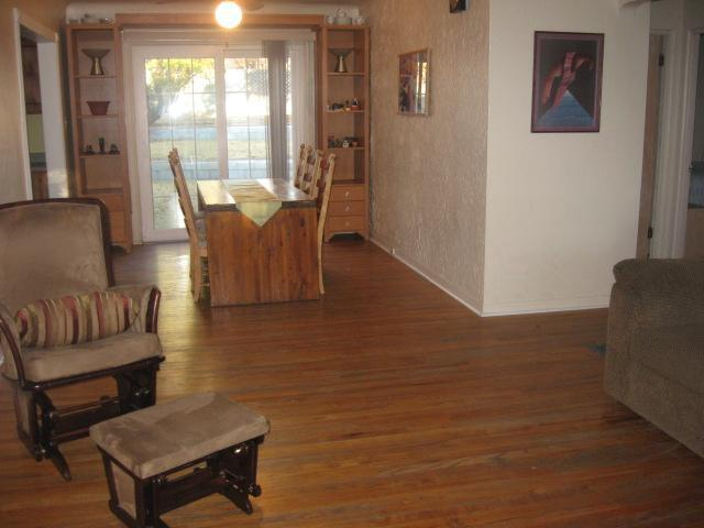LR/DR area, backyard through glass door - Location, Location, Location - Albuquerque - rentals