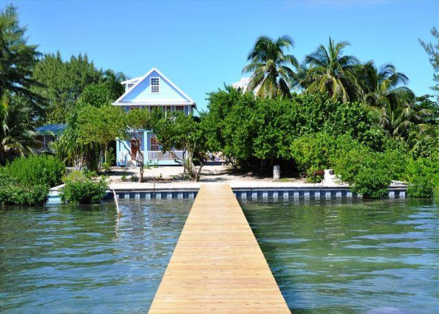 New Beach Front 3 bedroom 2 bath home with private pool, dock, Beach & AC - Image 1 - Caye Caulker - rentals