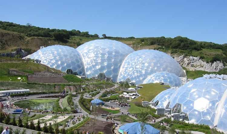 Eden Project - Major all year tourist attraction - Cornwall Luxury Accommodation - Newquay - rentals