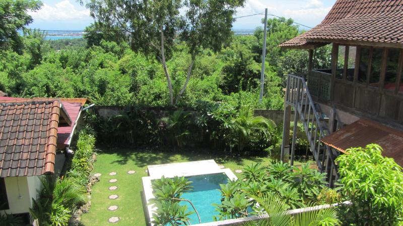 Overview of both houses and view - Ocean view!, Pool,2 houses on one property ! - Jimbaran - rentals