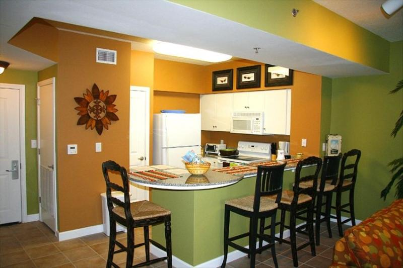Kitchen area - Shores of Panama 1 bedroom, Beautifully Decorated - Panama City Beach - rentals