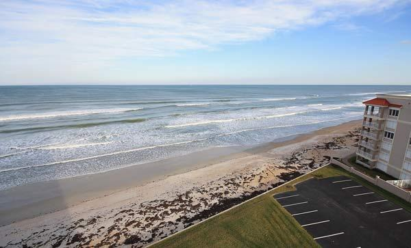 South view from Balcony - Oceanfront Comfort at Southwind 801 - New Smyrna Beach - rentals
