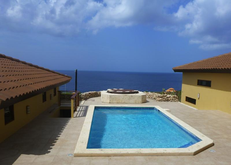 Pool, jacuzzi and sunsets...where are you?! - Whale's Tail-Top Lux Villa-Over-the-top views! - Curacao - rentals