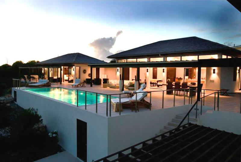 Anguilla Villa 63 Sits On A Slight Landscaped Rise Overlooking The Caribbean Sea And The Mountains Of St. Maarten Beyond. - Image 1 - Little Harbour - rentals