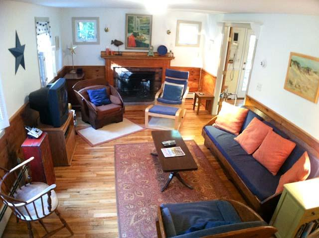 Living Room - Close to swimmable Greenland Pond with A/C - BR0541 - Brewster - rentals