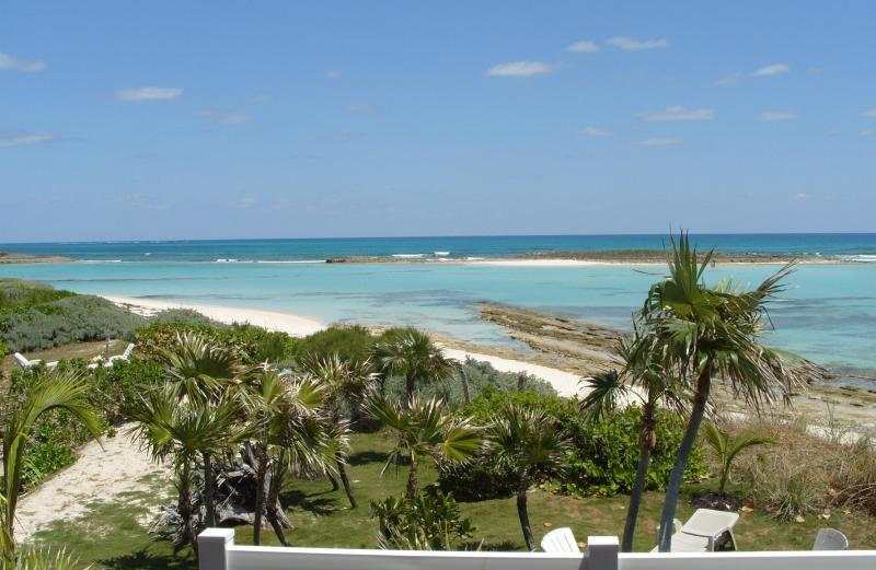 View from the front porch. - CORAL SANDS BEACH HOUSE ON THE OCEAN, GREEN TURTLE CAY, BAHAMAS - Green Turtle Cay - rentals