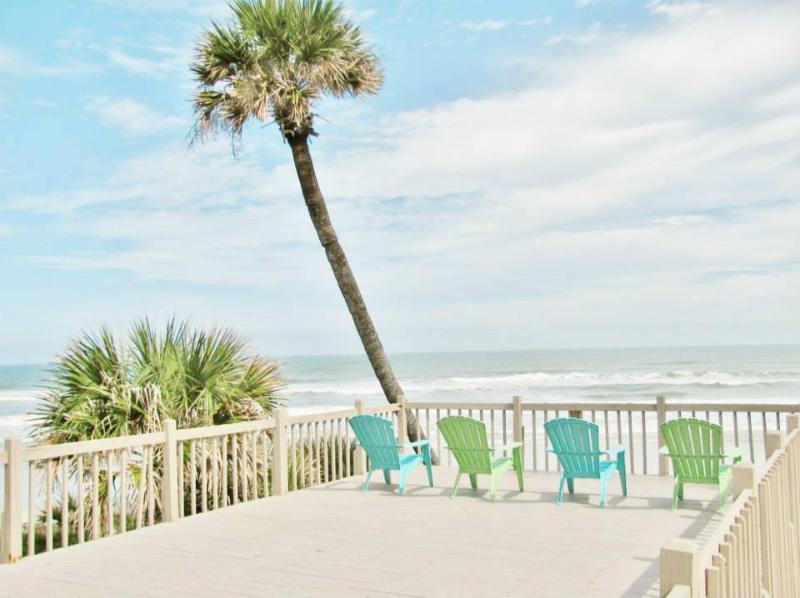 Deck overlooks the ocean - Direct Ocean Front-Sleeps 10! - Daytona Beach - rentals