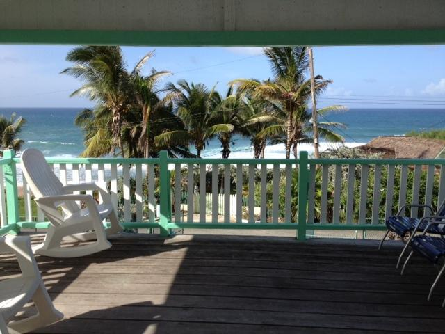 Large patio overlooking the East coast - Beautiful view of the East coast from the patio - Bathsheba - rentals