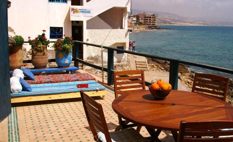 The great view from my apartment - FANTASTIC APARTMENT ON THE BEACH IN TAGHAZOUT. - Taghazout - rentals
