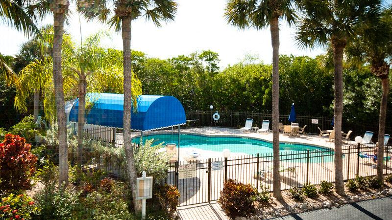 View of the heated pool from the lanai - Island Vacation Rental - Holmes Beach - rentals