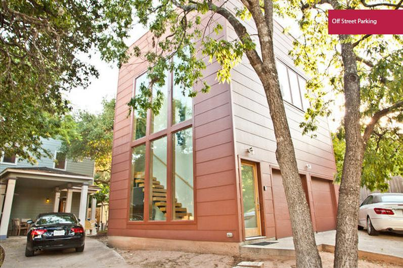 Beautiful exterior with off street parking--garage space is not included. - Central Austin Loft with Rooftop Deck - Austin - rentals